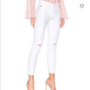 AG Farrah Skinny Ankle Jean in Uncharted White 24